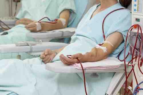 Pflege von dialysepflichtigen Menschen